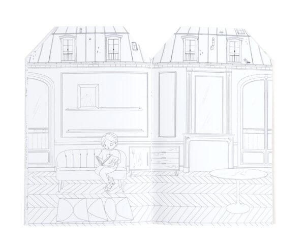 moulin roty 642544 Μπλοκ χρωματισμού και 145 στίκερς Παριζιέν