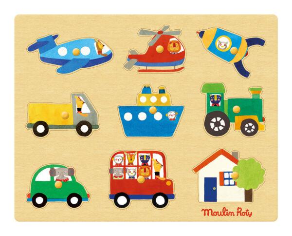 moulin roty 661324 Παζλ ενσφηνώματα ξύλινα - οχήματα