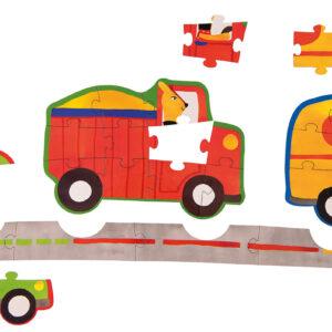 moulin roty 661362 4 Παζλ των 6-11 τμχ -Οχήματα