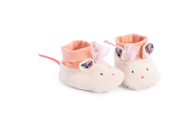 moulin roty 664013 παπουτσάκια μωρού ποντικάκια 0-6 μηνών