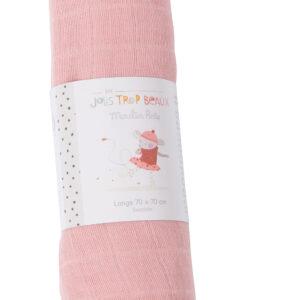 moulin roty 665293 κουβερτάκι 70εκ ροζ