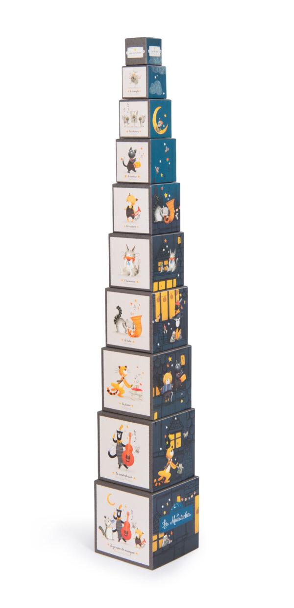 moulin roty 666211 κύβοι στοίχισης 1-10
