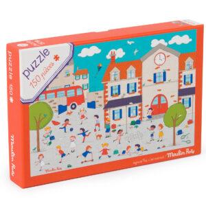 moulin roty 713140 Παζλ χαρτόνι- Παιχνίδι στην γειτονιά