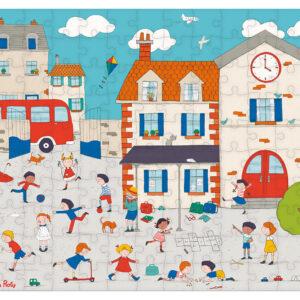moulin roty 713141 Παζλ χαρτόνι- Παιχνίδι στην γειτονιά