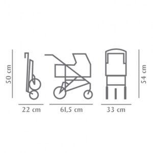 Goetz 3403081 Καρότσι Κούκλας Μικρό 3 Ρόδες Πτυσσόμενο