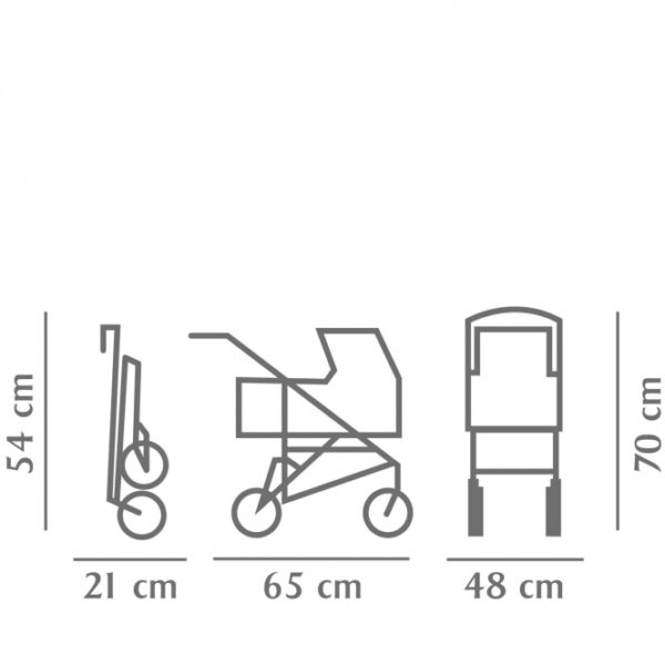 Goetz 3402864 Καρότσι Κούκλας Γκρενά ,Μεσαίο 4 Ρόδες - Πτυσσόμενο