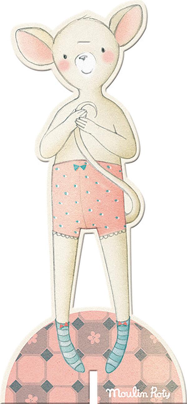 moulin roty 711374 Σετ χειροτεχνίας και Στικερ από χαρτόνι Ποντικάκια