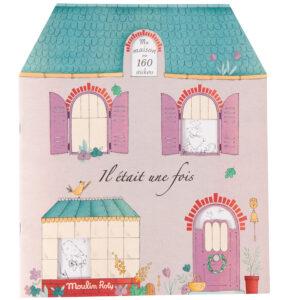 moulin roty 711377 Μπλοκ χρωματισμού και 160 Στίκερς