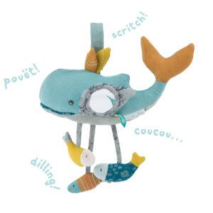 moulin roty 714078 Δραστηριότητες μωρού Φάλαινα κρεμαστή