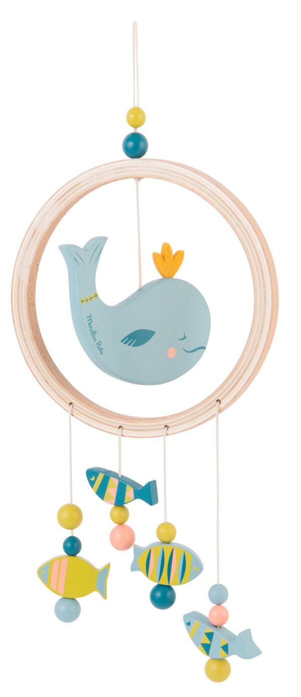 moulin roty 714136 Ονειροπαγίδα ξύλινη Φάλαινα