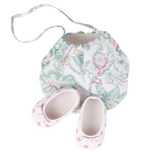 Goetz 3402099 Παπούτσια Μπαλλαρίνες και Τσάντα για Κούκλα 45-50εκ
