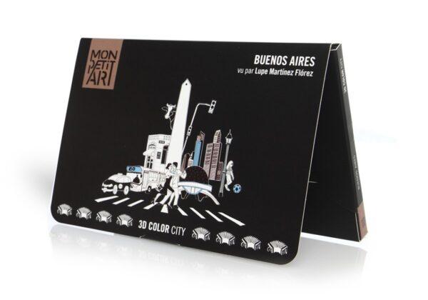 MonPetitArt C3CLUP1 Το Μπουένος Άιρες με τα Αξιοθέατά του για Χρωματισμό 3D