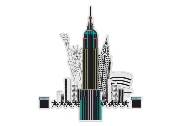 MonPetitArt C3CMAY1 Η Νέα Υόρκη με τα Αξιοθέατα για Χρωματισμό.