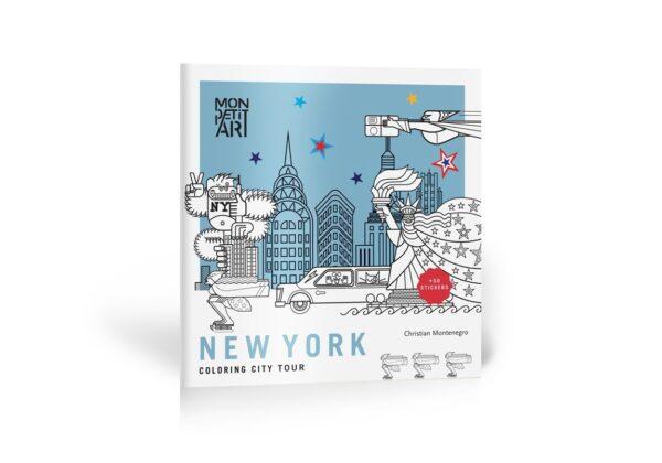MonPetitArt CGOCMO1 Βιβλίο Χρωματισμού και Στίκερς - Περιήγηση στην Νέα Υόρκη