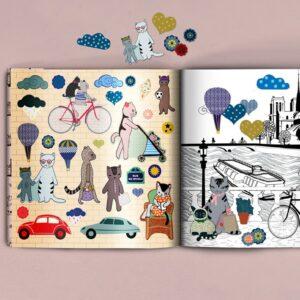 MonPetitArt CGOSEV1 Βιβλίο Χρωματισμού και Στίκερς - Περιήγηση στην πολη του Παρισιού