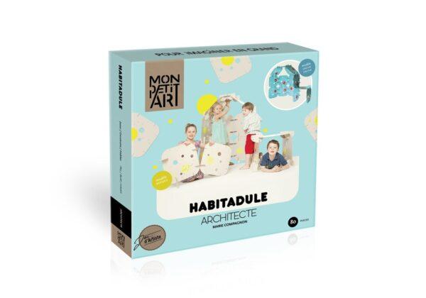 MonPetitArt HABCOM6 Σετ Κατασκευής με Χάρτινα Πάνελ Μπλέ