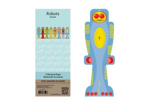 MonPetitArt MQPTRO1 Σελιδοδείκτες 8τμχ - Ρομπότ