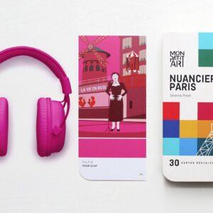 NUAGER1 Καρτ-ποστάλ 30τμχ - Οδηγός Παρισιού Χρωματικός