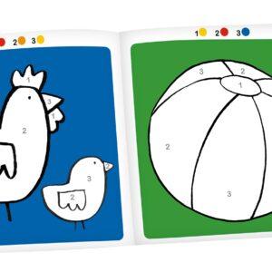 moulin roty 661608 Μπλοκ ζωγραφικης Αριθμών και Χρωμάτων