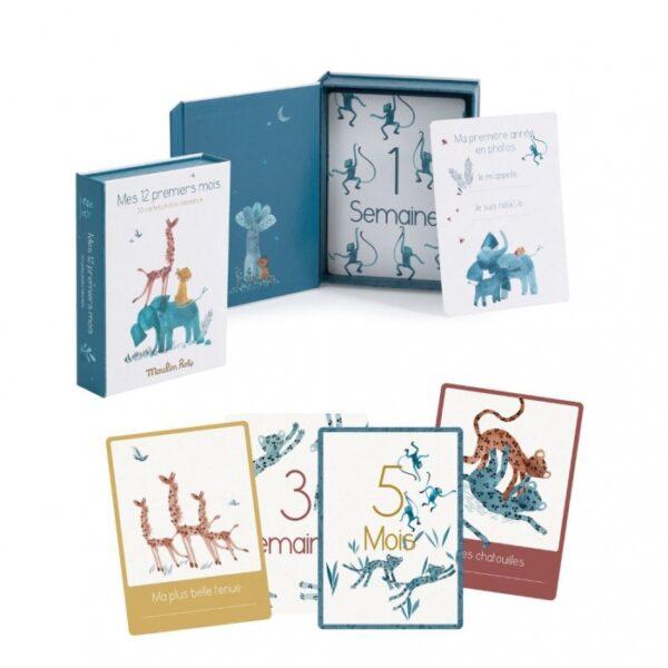moulin roty 669749 Κάρτες για αναμνήσεις των 12 πρώτων μηνών του μωρού