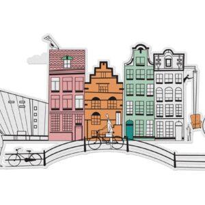 MonPetitArt C3CBOS1 Ζωγραφίστε τα αξιοθέατα του Άμστερνταμ