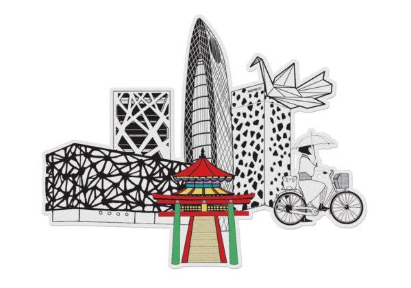 MonPetitArt C3CIZU1 Ζωγράφισε το Τόκιο και τα Αξιοθέατά του
