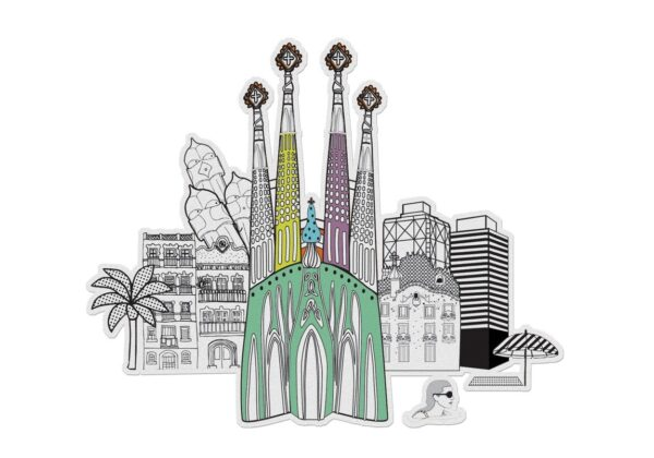 MonPetitArt C3CIZU2 Ζωγράφισε τα αξιοθέατα της Βαρκελώνης