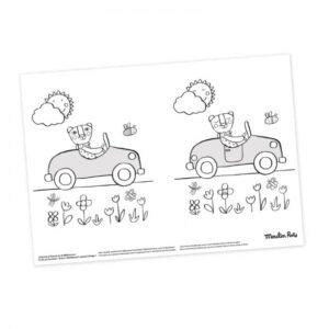 moulin roty 661613 Φύλλα Ζωγραφικής με Παιχνίδια - 40 σελίδων