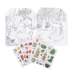 moulin roty 712604 Άλμπουμ ζωγραφικής με 120 στίκερ - Κήπος